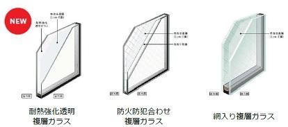 防火ガラス LIXIL サーモス 高性能ハイブリッド窓 イメージ