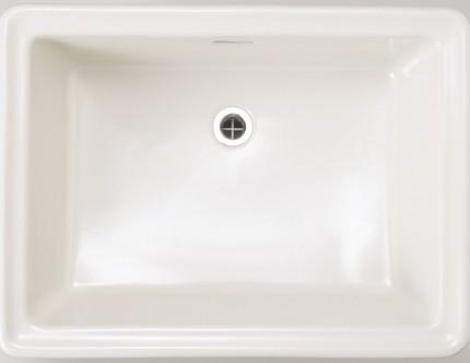 洗面器レクタングルLリネン