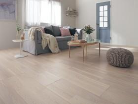 施工イメージ フォギーホワイト ベリティスフロアーWクラフト 木質床材 Panasonic