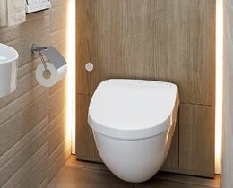 グレーアッシュ 施工イメージ フロートトイレ 壁掛式便器 LIXIL