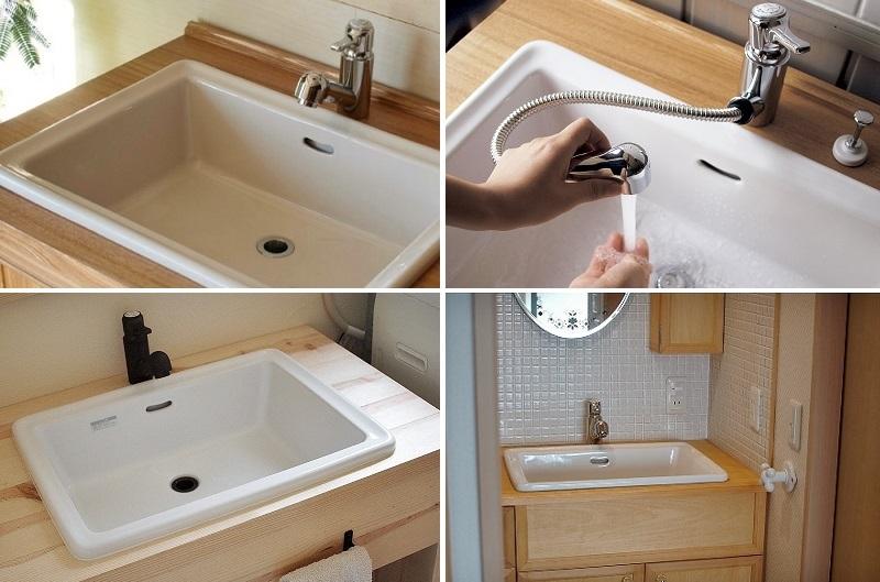 洗面器レクタングルL施工例