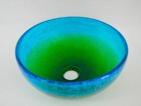 琉球ガラス 手洗いボウル 水緑