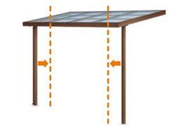 柱の開口方向の移動 シュエット ガーデンスペース LIXIL