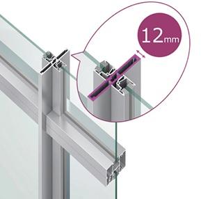 縦ガラス受けタイプ LIXIL インショップフロント サッシ