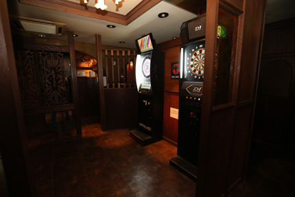 Darts&Dinning Bar Fixには二台のダーツ台を設置
