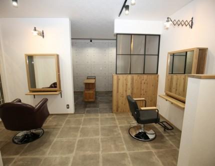 カットスペース 美容院 店舗併用住宅 三重県鈴鹿市
