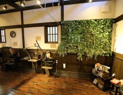 壁面緑化 ふくろうカフェ Fuku×Fuku 店舗改装 三重県伊勢市