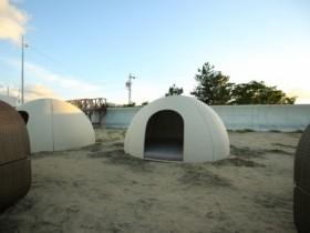 海の家 APOA HALLO ドーム 三重県津市 御殿場海岸
