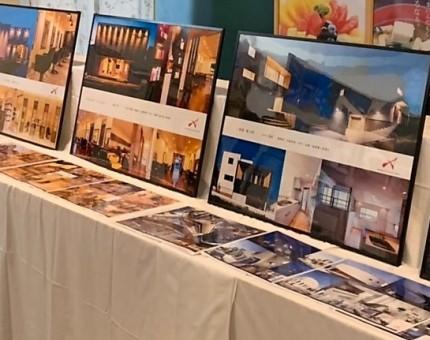 建築家写真展、アポアホテル四日市2