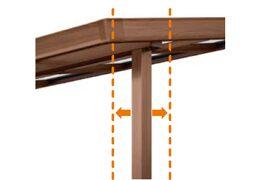 柱の出幅方向の移動 シュエット ガーデンスペース LIXIL