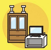 イメージ 防災の日 家具の固定