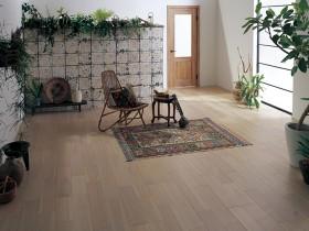 施工イメージ ナチュラルグレー ベリティスフロアーWクラフト 木質床材 Panasonic