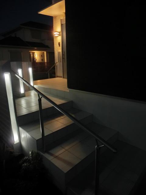 夜景 階段 シンプルモダン ランドスケープ