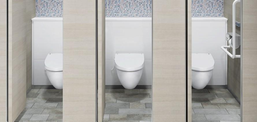 施工イメージ パブリック向けクイックタンク式壁掛便器 トイレ LIXIL