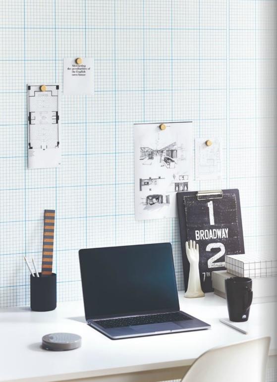 方眼デザイン クロス 掲示板用壁紙材 サンゲツ