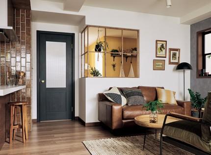 ブラックオーク ベリティスクラフトレーベル 建具 室内ドア Panasonic