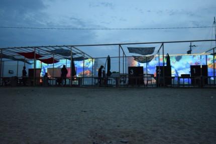 プロジェクションマッピング 海の家 APOA HALLO 三重県津市 御殿場海岸