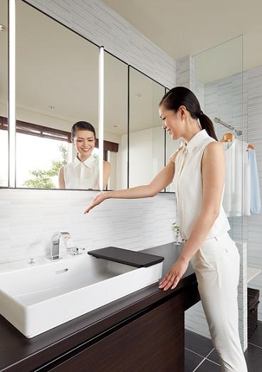 タッチレススイッチ 洗面化粧室 ルミシス ベッセルタイプ LIXIL