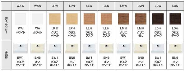 カラーバリエーション コフレル 手洗いキャビネット トイレ LIXIL