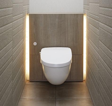 施工イメージ フロートトイレ 壁掛式便器 LIXIL