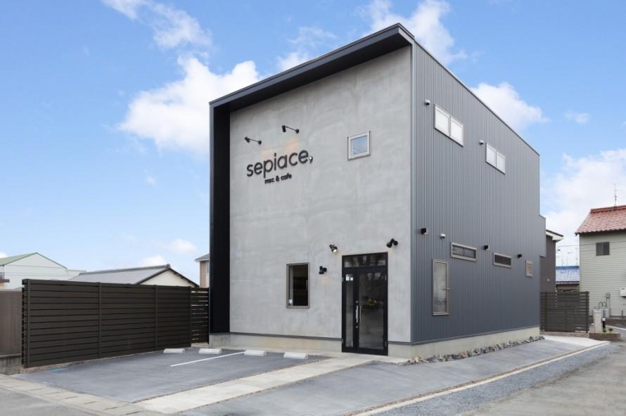 msc&cafe sepiace, カフェ 新築 店舗併用住宅 三重県鈴鹿市