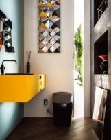 トイレデザイン satis yellow&black LIXIL 店舗設計 APOA(アポア) 三重県津市